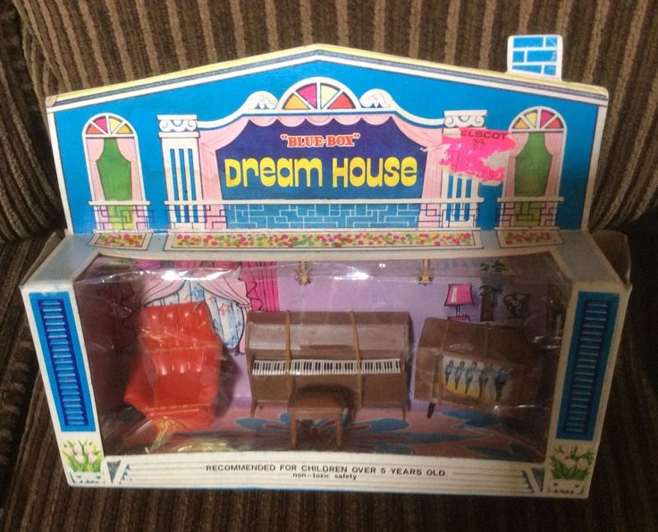 Vintage Blue Box Dream House Furniture, Hong Kong, TV, Piano, Chair, Stool,orig | eBay