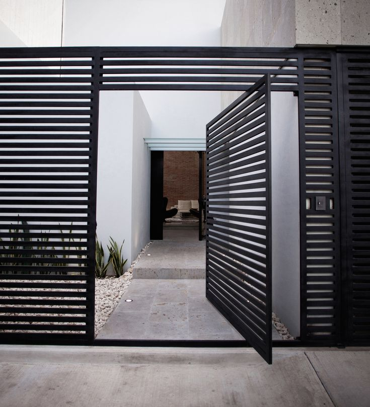 Front Gate - Curb Appeal - Entryway Ideas - Pivot Doors - Modern Design