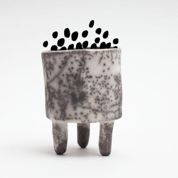 Small Vessle, raku, By Klyfta