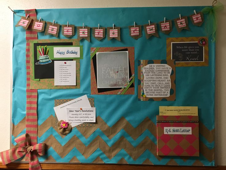 160 best bulletin boards rs images on pinterest board for Idea door relief society