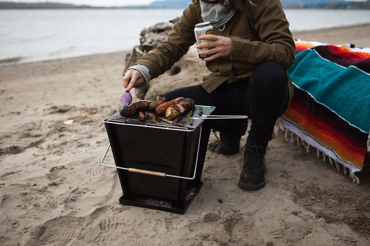 The Groovebox Portable Barbecue is designed for small living and adventures on the go.  The charcoal barbecue's unique design is quick to assemble while breaking down flat for easy packing in the durable carry bag.
