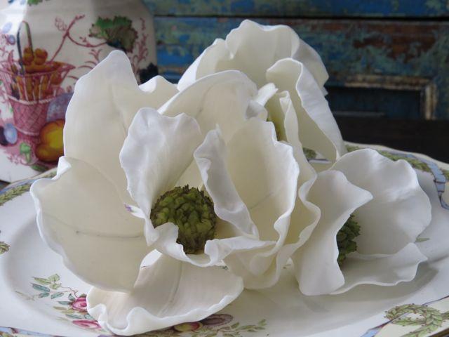 If you want Magnolias on your wedding cake contact Florabunda & Cake on 0293563668