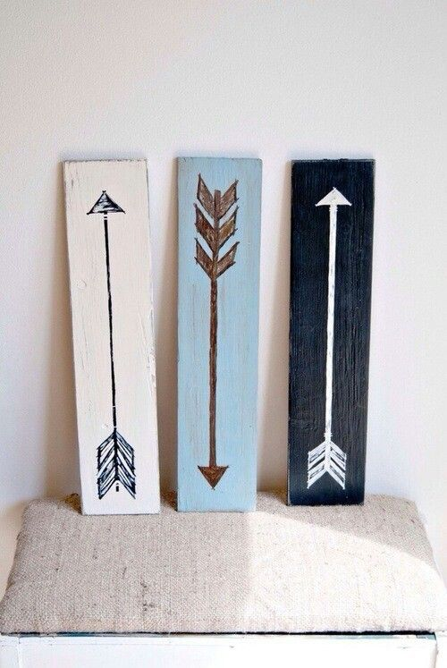Arrow paintings on palet boards! Yes, just need the boards
