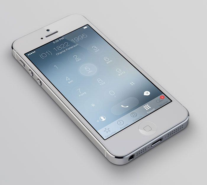 iOS7 Keypad Redesign