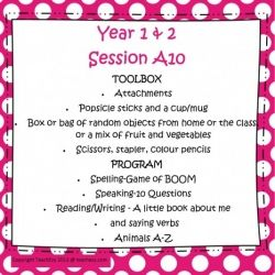Years 1/2 Session A Program 10