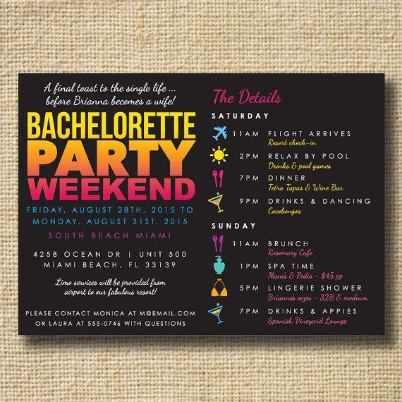 best 25+ bachelorette itinerary ideas on pinterest | bachelorette, Party invitations