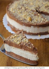 Torta cremino fredda ricetta dolce facile vickyart arte in cucina