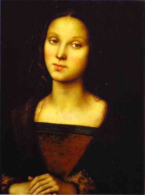 Pietro Perugino, Mary Magdalene, 1490s oil on wood
