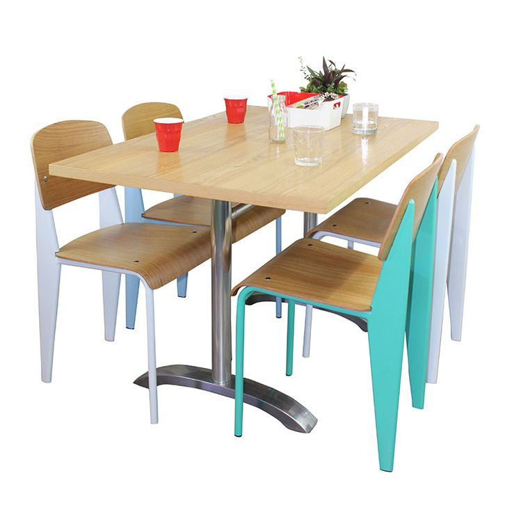 The Frazier Dining Chair is the perfect restaurant and cafe chair. Made from solid steel and wood construction in a range of bright colours it will please.
