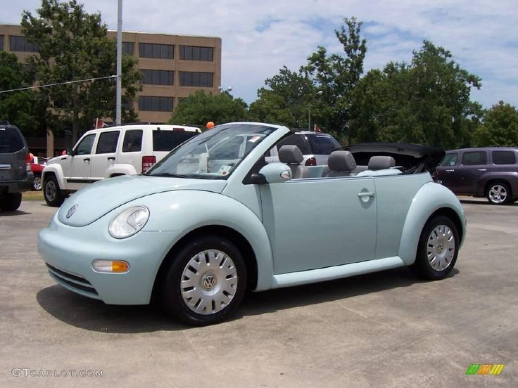 Blue Volkswagen Bug | 2005 Aquarius Blue Volkswagen New Beetle GL Convertible #13243085 ...