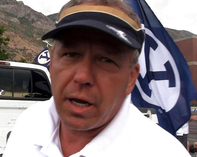 Oscar Mink has had season tickets to BYU football games since 1991. He makes cheesecake from a family recipe.