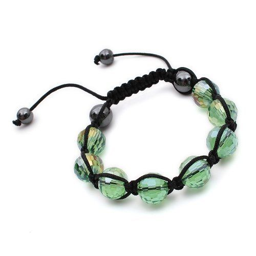 K Mega Jewelry Light Green Color Unisex Czech Stone Crystal Bead Shamballa Bracelet 2 K Mega Jewelry. $10.49. adjustable. 30-Day Money Back Guarantee. Metal: Crystal. W: 12mm. Save 74%!