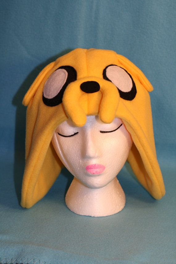 Jake the dog. Made to Order Adventure Time Hat or by MCoomerPlushiesnMore, $20.00