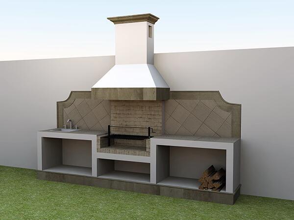 Mejores 105 im genes de outdoor kitchen en pinterest - Barbacoa exterior ...