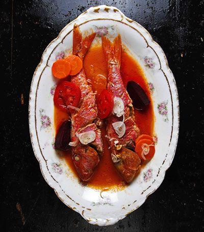 Spicy Poached Snapper Recipe - Saveur.com