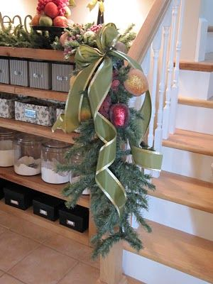 Use branches from old take-apart Christmas tree as greenery around the house