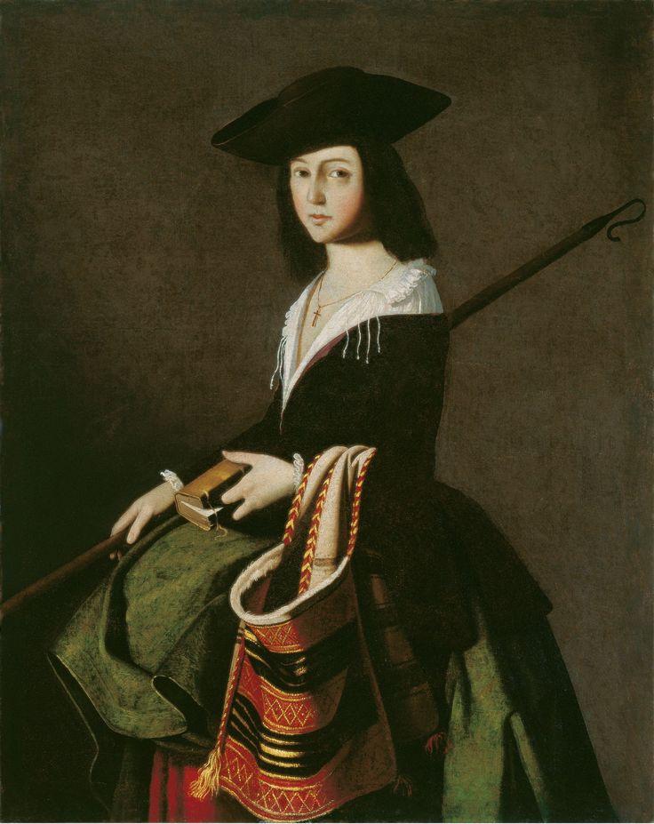 Франсиско де Сурбаран. Св. Марина. 1650 г., 111 см. Музей Тиссена-Борнемисы, Мадрид.