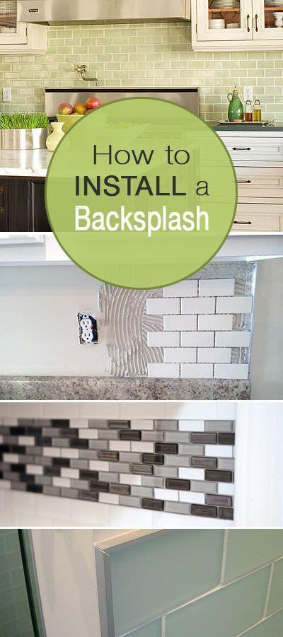 How to Install a Backsplash Remodeling Diy kitchen, Kitchen