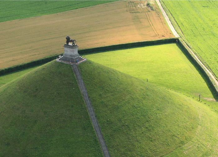 """WATERLOO (near Brussels) 1815 is the historical site where Napoleon lost the battle - its famous """"Butte du Lion"""" and museum commemorates the Battle of Waterloo"""