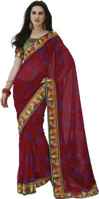 Aparnaa Striped Embroidered Embellished Georgette Sari - Buy Red Aparnaa Striped Embroidered Embellished Georgette Sari Online at Best Prices in India | Flipkart.com  MRP: Rs. 4,028 Rs. 1,812 55% OFF Selling Price (Free delivery)