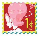 Sello postal homenaje al peinado colmena, puesto de moda e inventados en 1956 en Estados Unidos..
