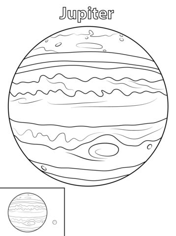 Jupiter Planet coloring page from Planets category. Select