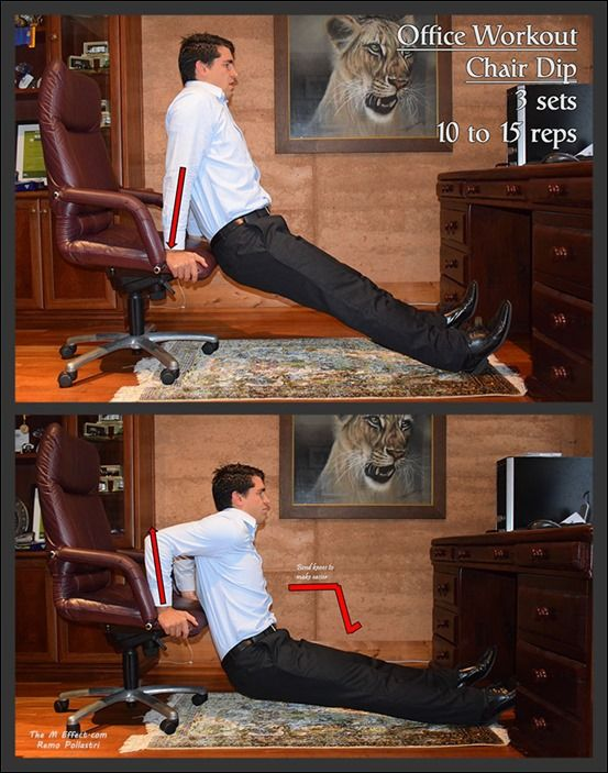 The Workplace Workout – Upper Body Chair Dip
