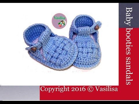 How To Crochet Cute And Easy Baby Booties/ Baby Sneakers | Croby Patterns - YouTube