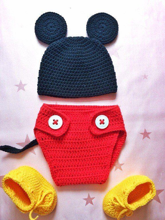 Пинетки, сандалики, костюм Микки Мауса - Вязание - Страна Мам