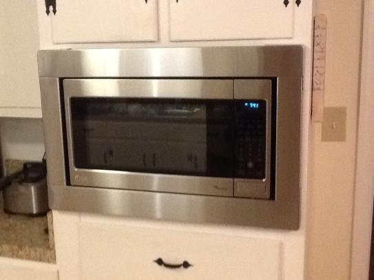 Attractive Kitchenaid Microwave Trim Kit Panasonic Microwaves With Trim Kits