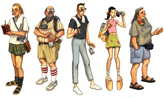 6 Types Of Tourists We Meet On Holidays     We see the most unique of attires totally at mismatch with the location, we see people trying every new thing and making a fool of them, we see tourists trying the weirdest of native drinks and dancing insanely after that.   http://blog.frogo.in/2016/03/30/6-types-of-tourists-we-meet-on-holidays/