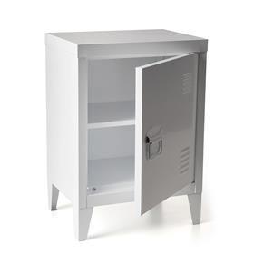 Metal Locker - Small, White