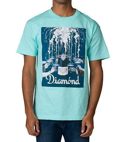 DIAMOND SUPPLY COMPANY MENS POPPIN BOTTLES TEE Medium Blue