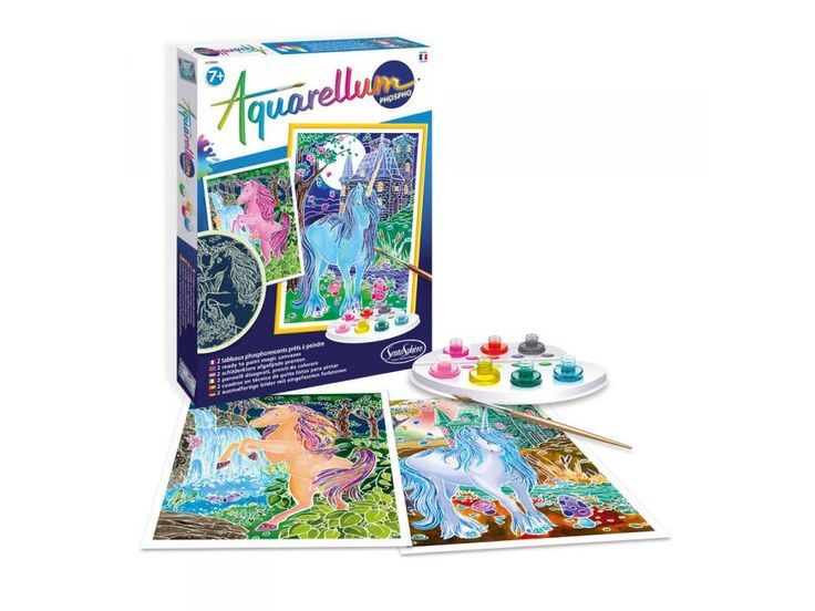 Sentosphère - Aquarellum phospho licornes #Sentosphere #licorne #jeuxdenfants  #cadeauxnoel #cadeauxdenoel