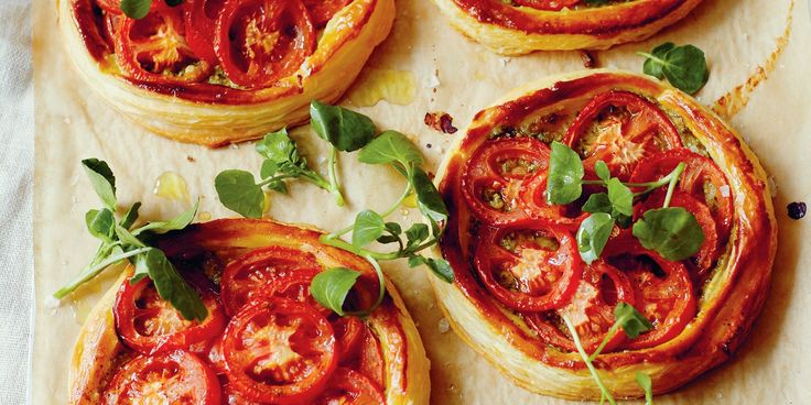 These tomato tarts are simple yet delicious, as TV chef John Torode pairs tomato and pesto with flaky puff pastry.
