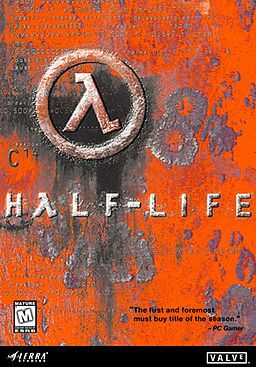 Half-life typography - using a gamma sign for a letter a, also represents the crowbar the main characters main weapon.