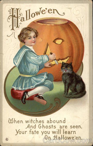Halloween - When Witches Abound When witches abound And Ghosts are seen, Your fate you will learn On Hallowe'en Series 226 D