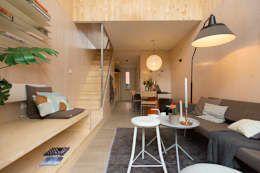 Heijmans ONE: minimalistische Woonkamer door MoodBuilders