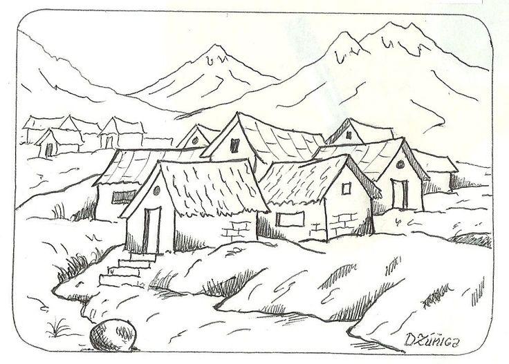 paisajes infantiles para dibujar