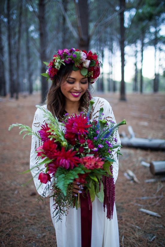 Jewel Toned Bohemian Wedding Ideas