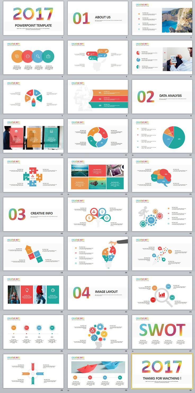 """查看我的 Behance 项目""""30+ Best Infographics swot PowerPoint"""
