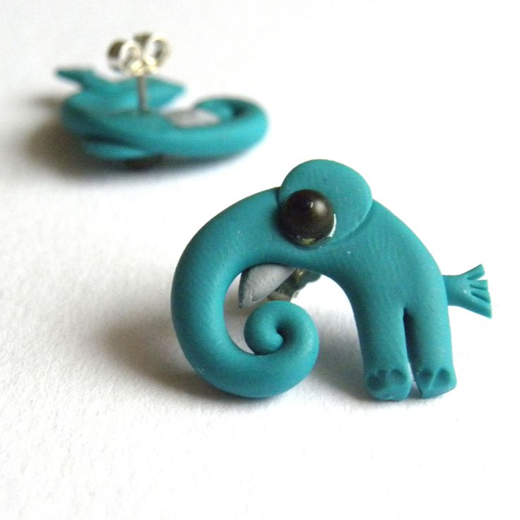 Sloni tyrkysoví... náušnice