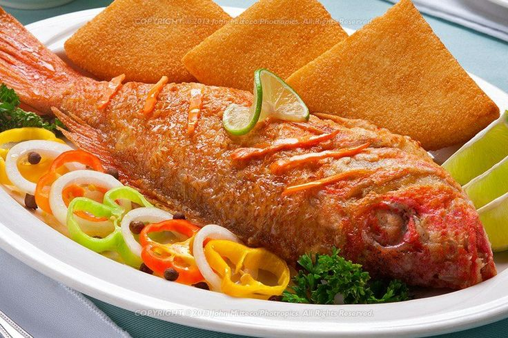 fried fish and bammy | Authentic Jamaican Dishes | Pinterest