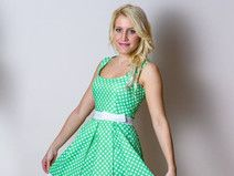 Cute polka dot dress delivery in all europe