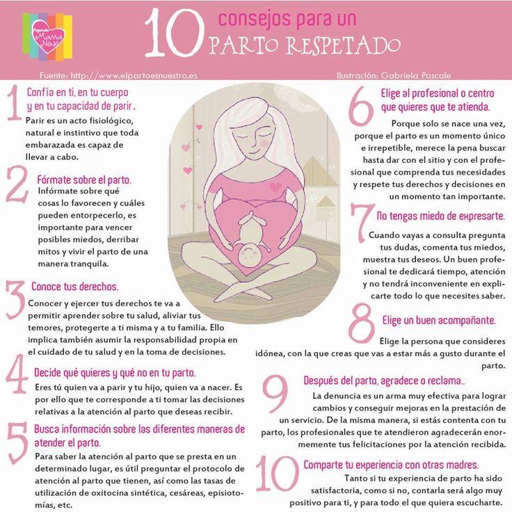 10 consejos para un parto respetado. embarazo Tips