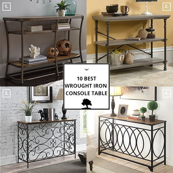 Wrought Iron Console Table With Images Wrought Iron Console