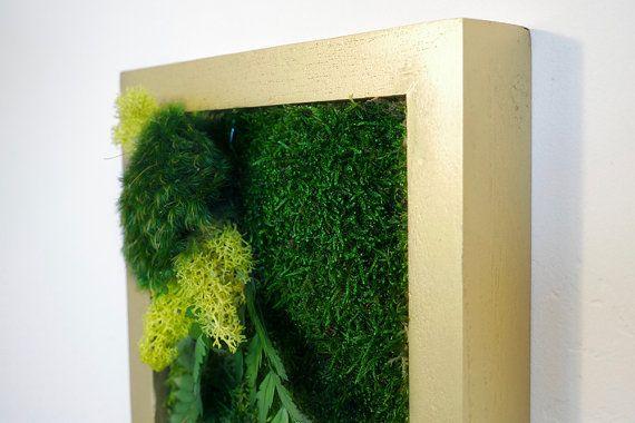 7x7 Moss Wall Art. Real preserved green wall plant от WabiMoss