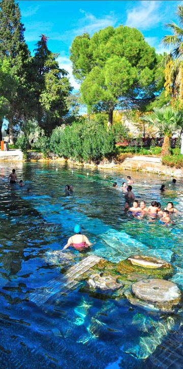 Thermal pools in Hierapolis, Turkey • photo: Luke Dean-Weymark on Behind the Lens Lukey