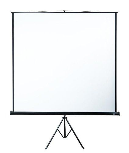 """Jago BELESV01 HD Projector Screen Beamer with Tripod Screen Size 80""""x80"""" - Diagonal Screen Size: 113.7"""" suitable for (1:1, 4:3, 16:9 and others): Amazon.co.uk: Office Products"""