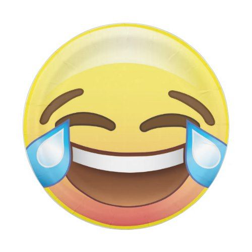 Crying Tears of LOLs Laughing Emoji Party Plate